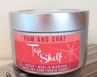 Rum & Coke Soy Candle - Top Shelf Collection