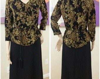 vintage 90s  dress size 6 by connected apparel
