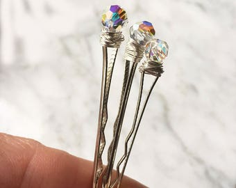 Wedding Bobby Pins with Crystals Hair Accessories for Women