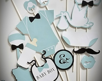 It's A Boy Photo Booth Props / Baby Shower Props / Gender Reveal