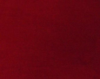 "Luxurious Burgundy 100% Cotton Velvet Velour Fabric for Upholstery Heavy Weight Curtain Drapery Quality Material Sold by the Yard 54"" Wide"