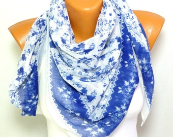 Scarf, Shawl, Scarves, Foulard, Printed Scarf, Square Scarf, Womens Fashion Accessories, Lightweight Summer Scarf, Gift for her for mom