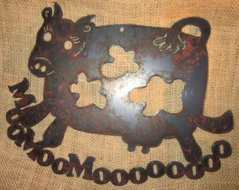 Mooo-Bovine Metal Art-Matilda the Dancing Cow
