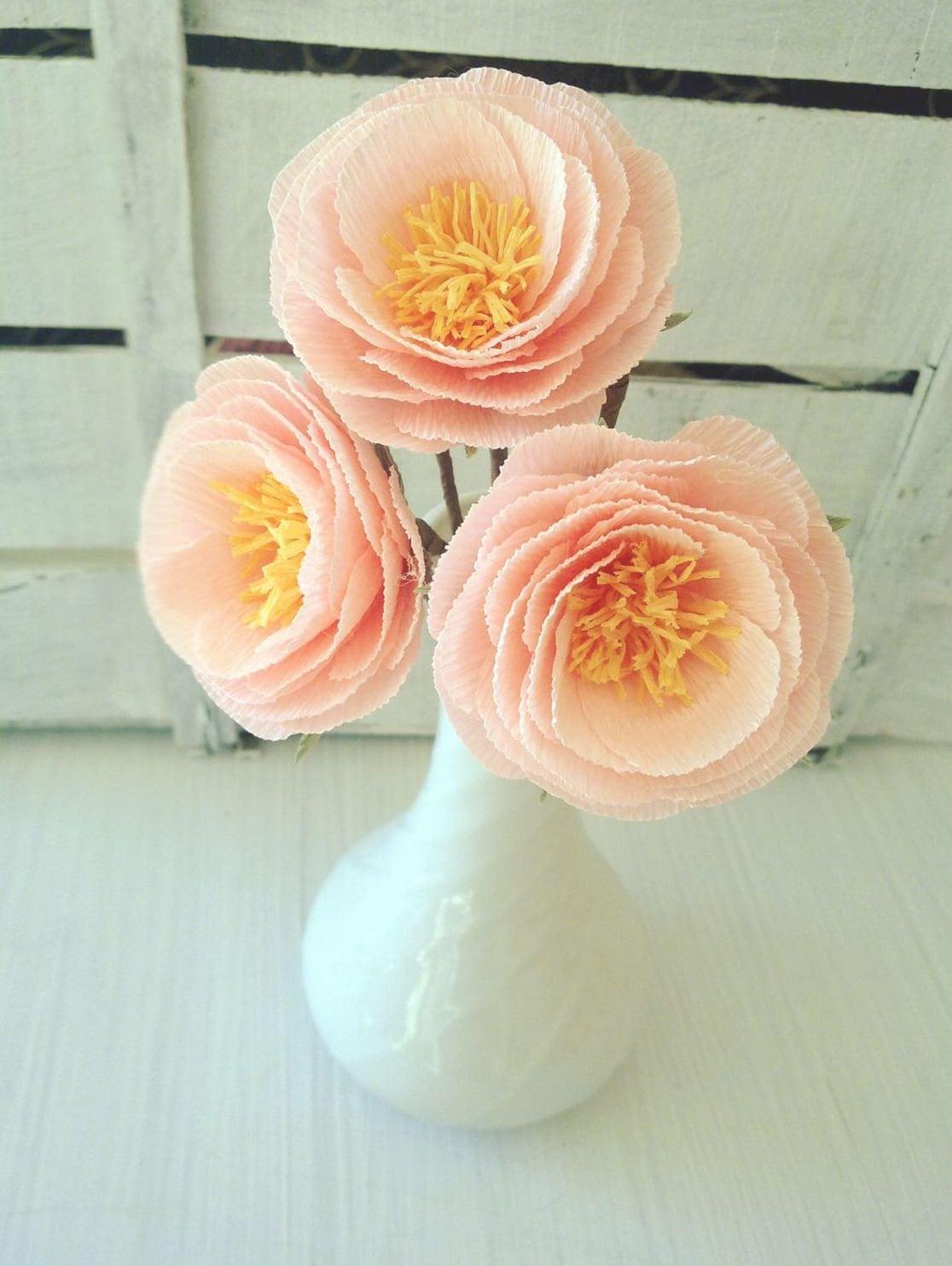 3 Handmade Paper Flowers Wedding Decoration Wedding