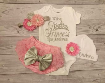 Baby Girl Clothes, Newborn, Hospital Outfit, Baby Girl, Personalized, Outfit, Baby Girl Outfit, Baby Shower, Gift, Name, Baby Shirt, Tutu