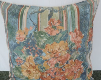 Extra Large Giant Cushion Rust, Blue, Green And Gold