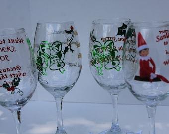Wine Glasses for Christmas