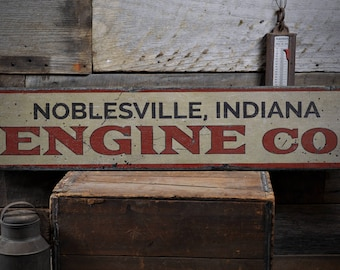 Engine Co Decor, Engine Co Sign, Wood Fire Engine Sign, Custom Firehouse Sign, Rustic Fireman Gift, HandMade Vintage Wood Sign ENS1001978