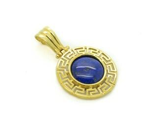 Delicate gold pendants made in greece pendant minimal gold large round gold pendant made in greece pendant lapis lazuli 14k gold lapis audiocablefo