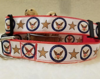 US Navy Handmade Dog Collar 1 Inch Wide Large & Medium Only