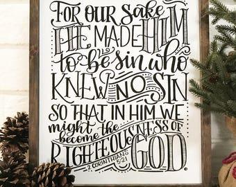 Him Who Knew No Sin, 2 Corinthians 5:21