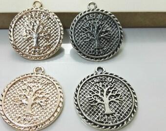 10 pcs Tree of Life Pendants  ,Tree of life Charms  ,Wish Tree   Charms 21mm