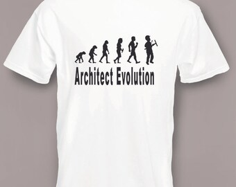Evolution to Architect t-shirt Funny T-shirt sizes S To 2XXL