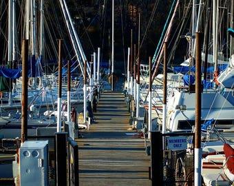 Pier of sails.