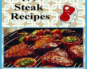 479 Steak Recipes E-Book Cookbook Digital Download