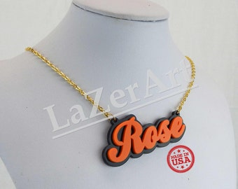 Acrylic Name Plate- Custom Jewelry - with your choice of colors