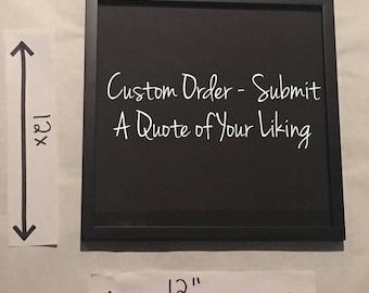 Custom Quote Order