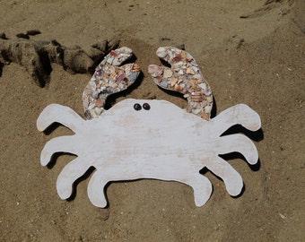 Wood Crab, Crab, Crab Art, Coastal art, Coastal Home Decor, Coastal Decor, Beach Decor,