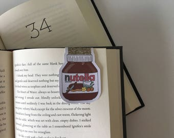 Nutella Magnetic Bookmark //