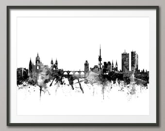 Prague Skyline, Prague (Praha) Czech Republic  Cityscape Art Print (2378)