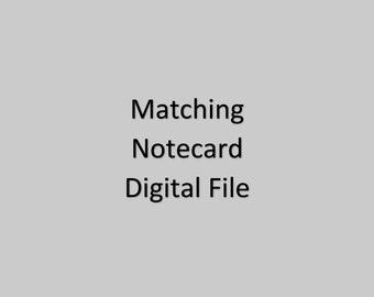 Matching Notecard DIgital File