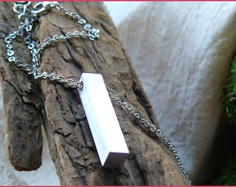 Custom Metal Block Necklace