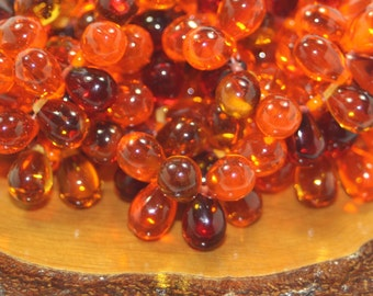 Czech Glass Drops 6x9mm 25 Beads