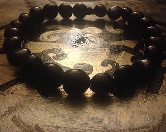 Black Kukui nut headpiece