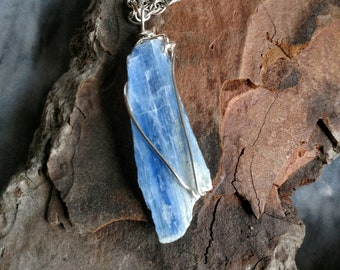 Kyanite Wirewrapped Pendant