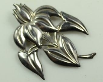 Lang Sterling Tropical Flower Pin