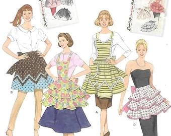 Vintage 1950' s Aprons, Sizes S-M-L  New Simplicity Pattern 2592