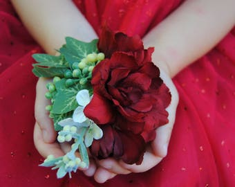 Red Christmas Hair Flower - Red Christmas Wedding Hair Flower - Red Bridal Hair Clip - Red Floral Clip - Red Flower Hair Clip - Hair Flowers