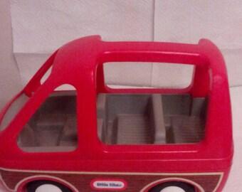 Vintage Little Tikes Dollhouse Family Woody Panel Van Car