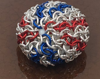 Patriotic Chainmaille Hacky Sack