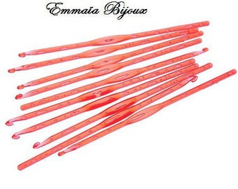 2 needles acrylic hooks 4 mm, 13.8 cm long