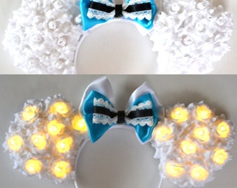 Light-Up Alice Floral Mouse Ears