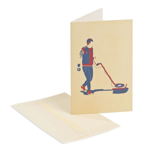 HEAVY METAL DETECTOR. Card for music lovers. For heavy metal lovers. For vinyl records collectors.
