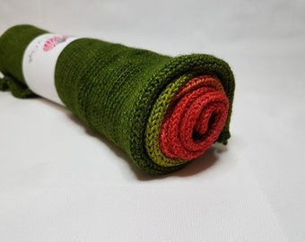 Hand dyed SW Merino / Nylon yarn, Sock weight, 4-ply, 100g, AUTUMN ROSE, sparkly gradient, sock blank