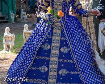 Royal Silk Queen Elizabeth I Gown