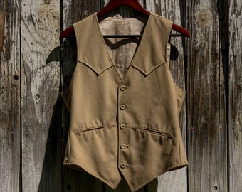 Vintage western style vest