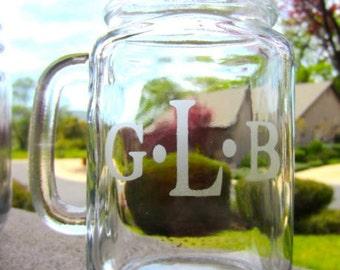 1 Mason Jar Mugs - Personalized Customized Mason Jar