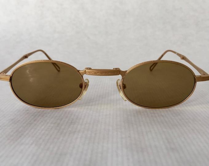 Matsuda 10609 18K Gold Folding Vintage Sunglasses New Old Stock Made in Japan