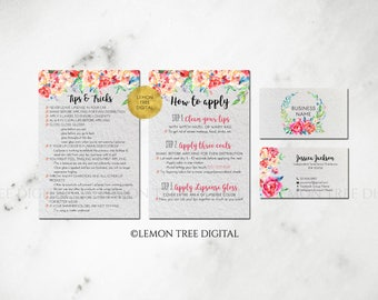 LipSense Business Card, LipSense Business Cards, LipSense Bundle, LipSense Marketing, Branding, Watercolor, Floral, Tips, Application