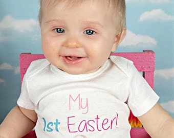 My 1st Easter Outfit Newborn Coming Home Outfit Baby Girl Easter Outfit Easter Bodysuit OnePiece Bodysuit Take Home Outfit
