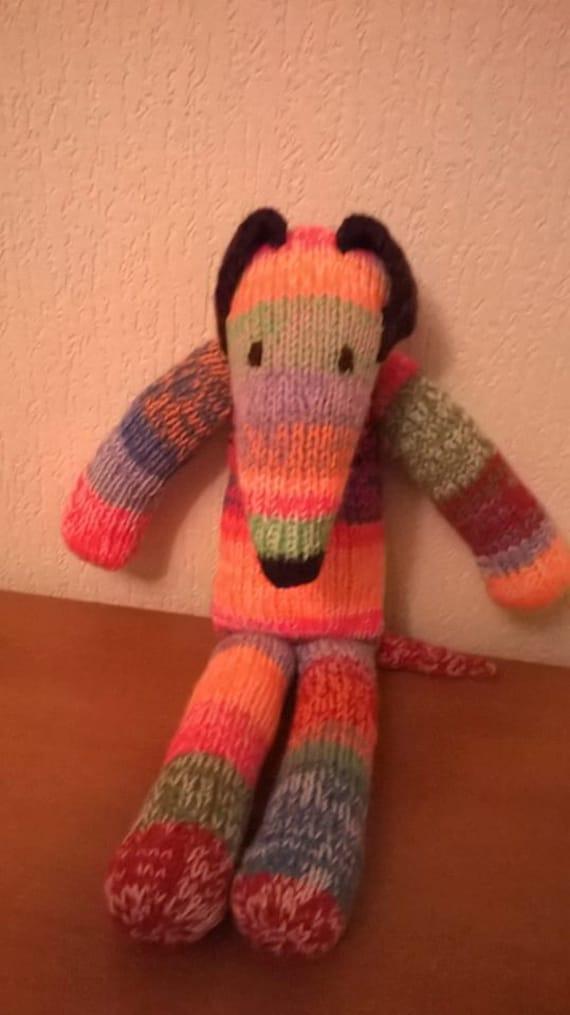 Knitting Pattern to make Rainbow Greyhound model / toy Free UK ...