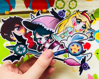 Star Vs the Forces of Evil (Stickers Video Game Laptop Custom Planner)