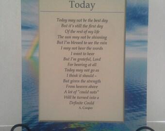 Today Poem 5 x 7