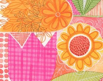 No.14, ORIGINAL watercolour, abstract floral, botanical, art, wall art, home decor