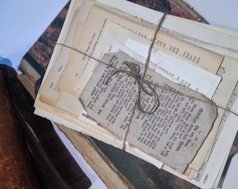 Se of 100 old book pages, wedding decoration, vintage, antique