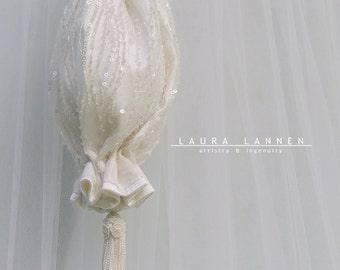 Beaded Wedding Purse, Ivory on White Bridal Clutch, Ivory Bridal Purse, Ivory Wedding Clutch, Ivory Wedding Bag, Ivory Purse, Ivory Clutch